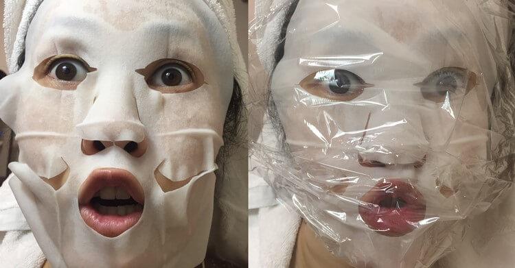 Sorabudo(ソラブドウ)ボタニックモイスチャーフェイスマスクで遊ぶ人。