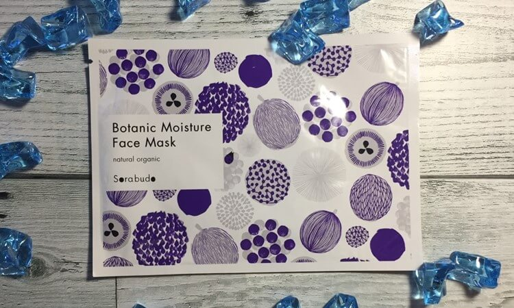 Sorabudo(ソラブドウ)ボタニックモイスチャーフェイスマスクのパッケージ。