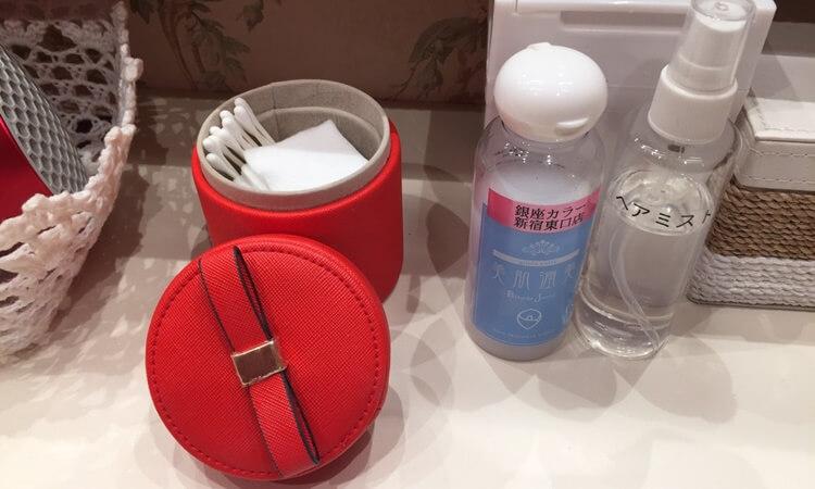 銀座カラー新宿東口店のパウダールーム。美肌潤美化粧水が試せる!