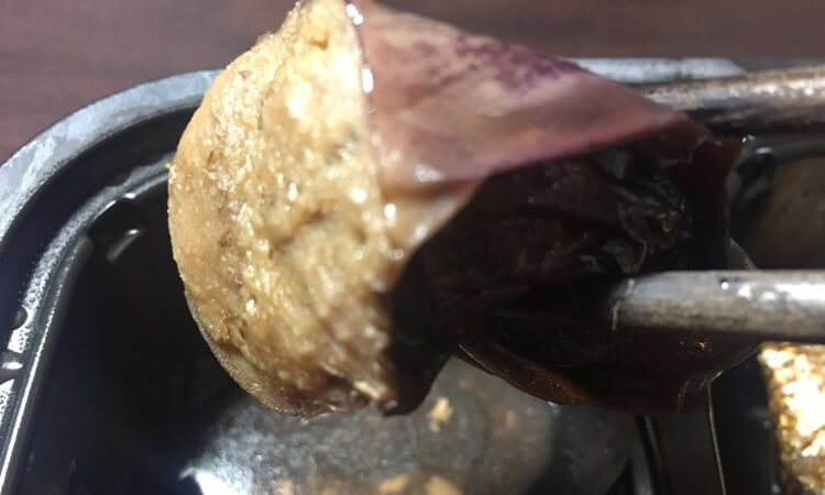ヘルシーな低糖質宅配弁当、冷凍弁当nosh(ナッシュ)の茄子甘酢の味感想口コミ