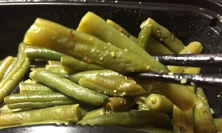 ヘルシーな低糖質宅配弁当、冷凍弁当nosh(ナッシュ)インゲンのマスタードサラダ味感想口コミ、栄養成分、メニュー