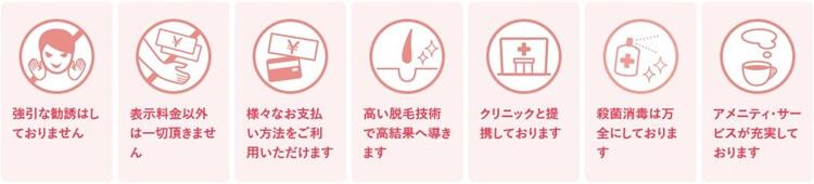 銀座カラーの全身脱毛7つの安心宣言で利用者は安心して利用できる